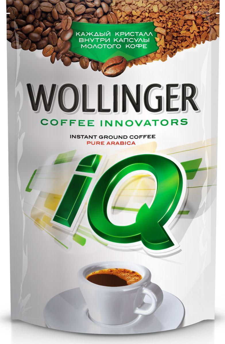 Кофе растворимый Wollinger IQ сублимированный с добавлением молотого кофе, 95 г wollinger кофе растворимый 75 г