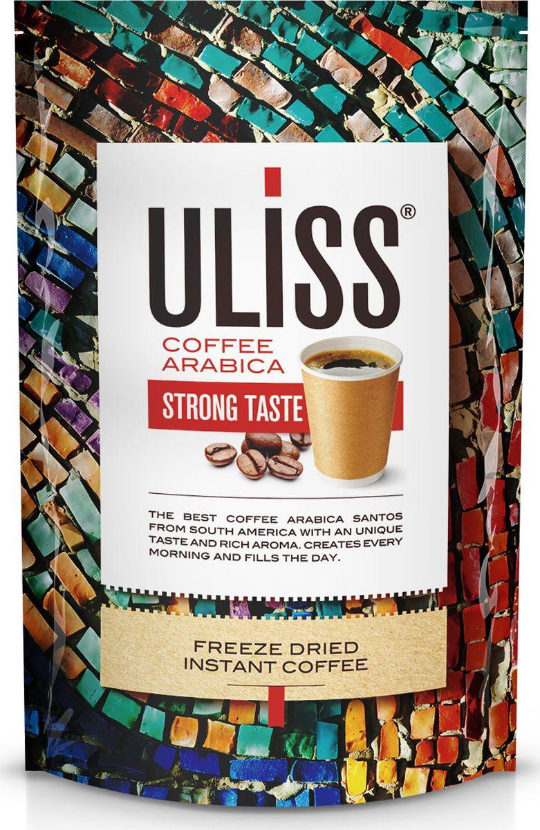 Кофе растворимый Uliss Strong Taste сублимированный, 190 г drive for life extra strong кофе сублимированный 150 г