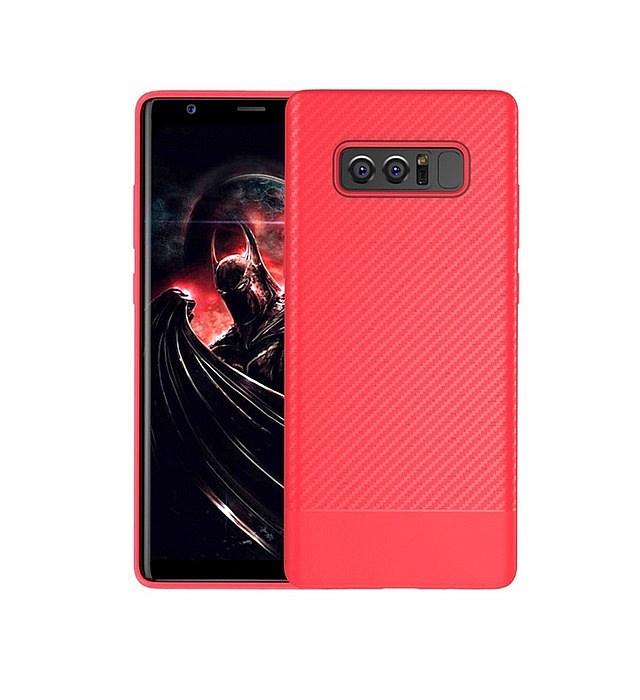 Чехол для сотового телефона Floveme с карбоновой фактурой для Samsung Galaxy Note 8 (красно-розовый) чехол для samsung galaxy note ii n7100 yoobao executive leather розовый