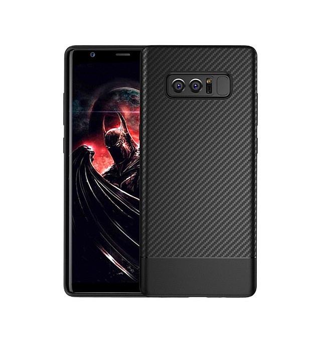 Чехол для сотового телефона Floveme с карбоновой фактурой для Samsung Galaxy Note 8, черный цена