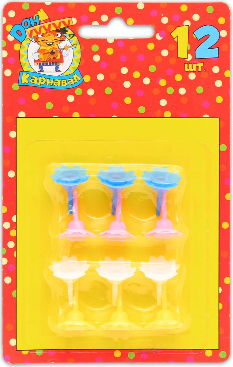 Подставки для свечей Miland, П-1252, разноцветный, 12 шт горыныч бинарный препарат для туалета ж п 12 шт