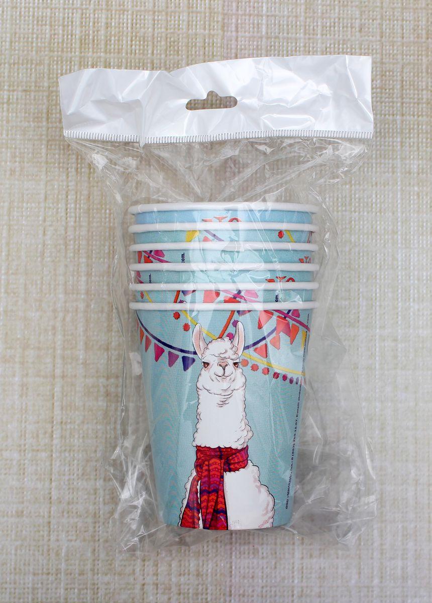 Стаканы бумажные Miland Лама, СП-2490, 250 мл, 6 шт цены