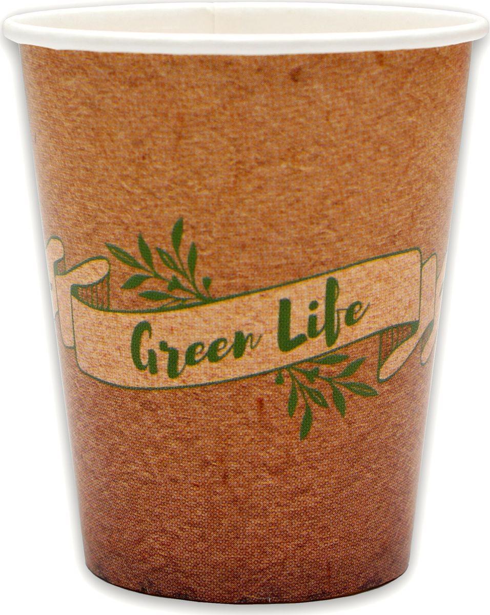 Стаканы бумажные Miland Green Life, 250 мл, 6 шт
