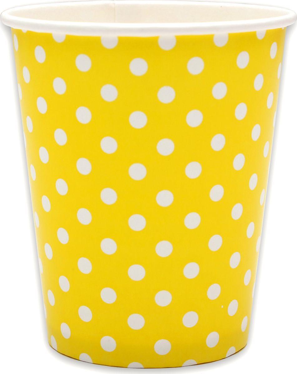 Стаканы бумажные Miland Yellow Pin Up, 250 мл, 6 шт цены