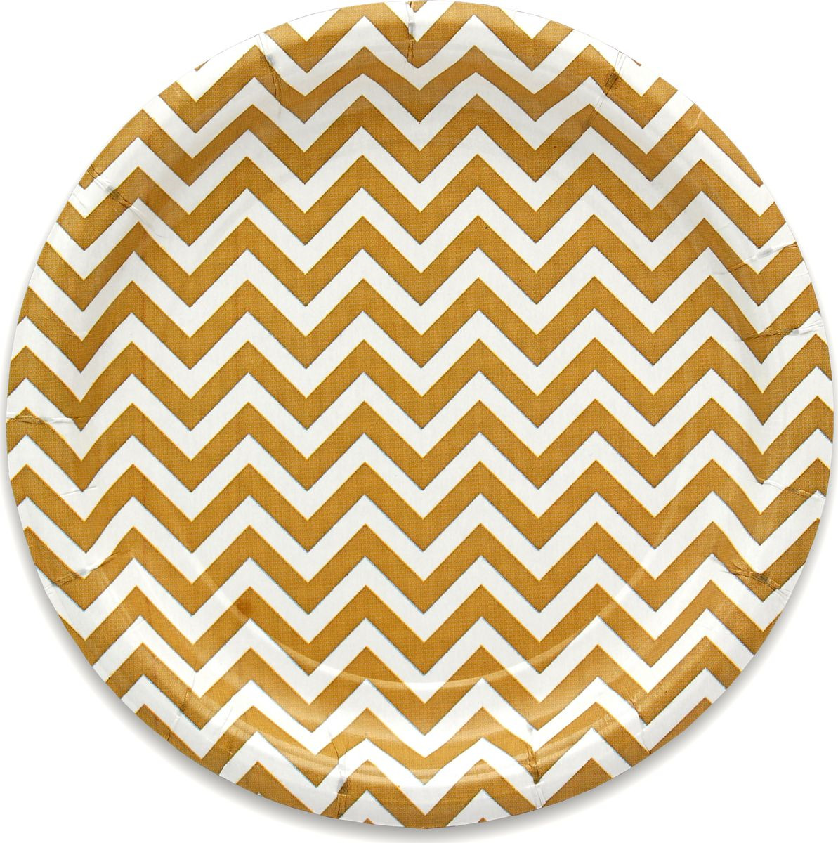 Тарелка бумажная Miland Золотой ЗигЗаг, 17 см, 6 шт