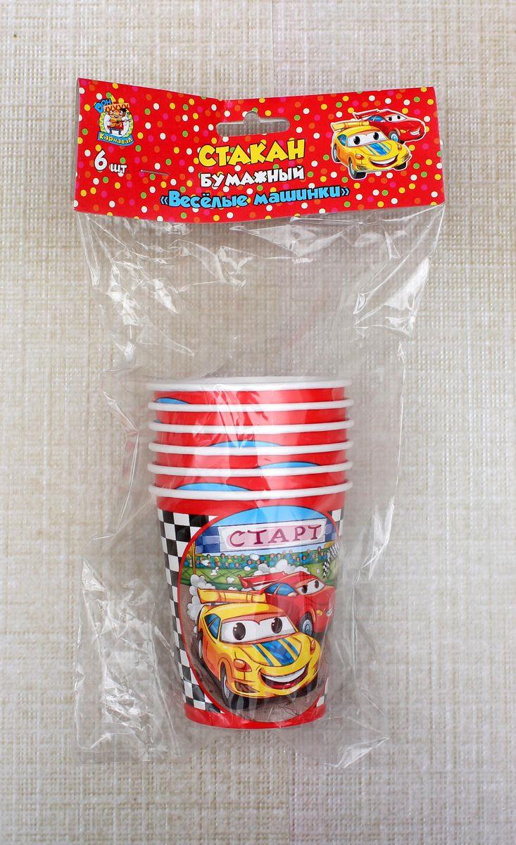 Стаканы бумажные Miland Веселые машинки, СП-3803, 250 мл, 6 шт цены