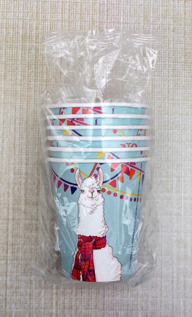 Стаканы бумажные Miland Лама, 250 мл, 6 шт цены онлайн