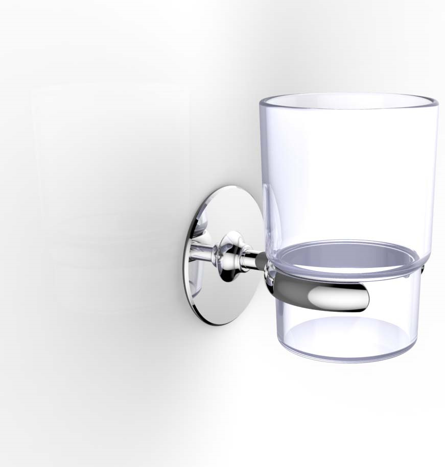 Стакан для ванной комнаты Kleber, на клейкой ленте, KLE-044, серебристый плитка для ванной ницца