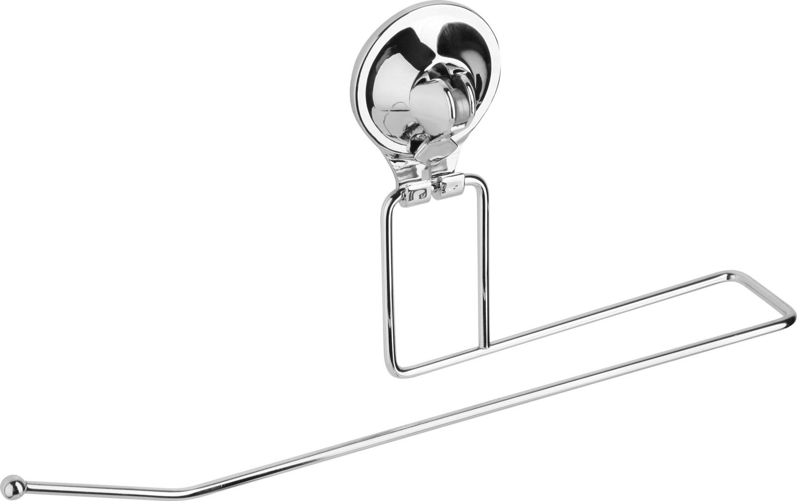 Держатель для полотенец Fora Triumf, на присоске, T009, серебристый крючок для ванной fora triumf на присоске t053 серебристый