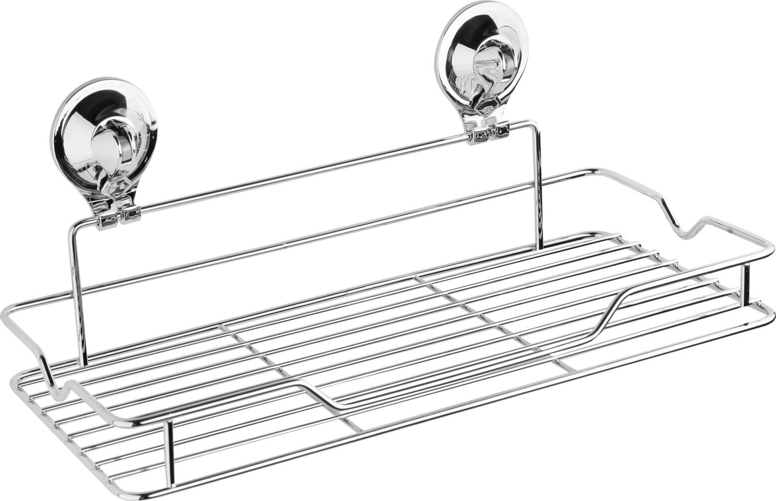 Полка для ванной комнаты Fora Triumf, на присоске, T033, серебристый крючок для ванной fora triumf на присоске t053 серебристый