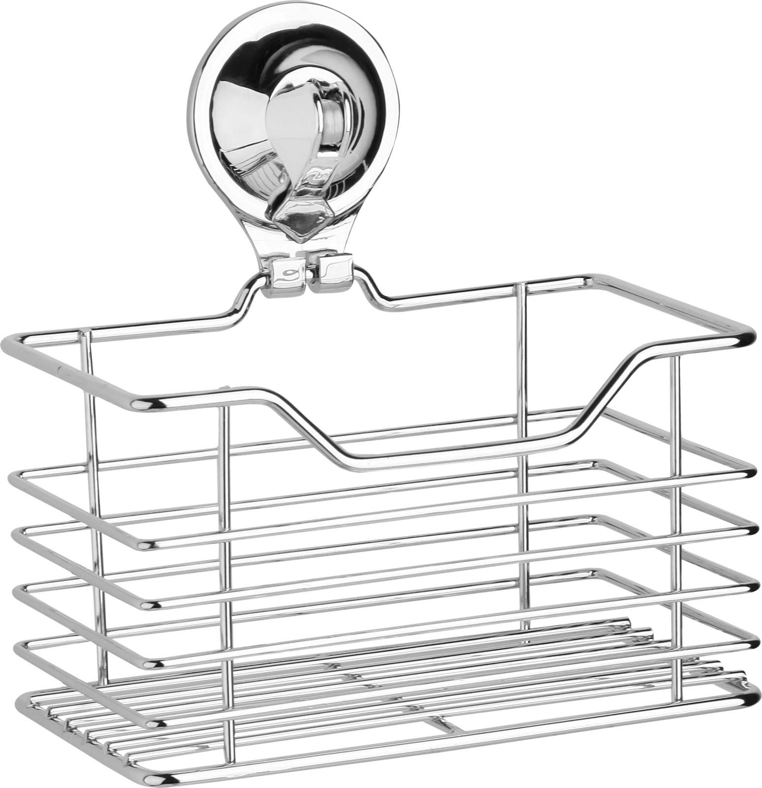 Полка для ванной комнаты Fora Triumf, на присоске, T007, серебристый крючок для ванной fora triumf на присоске t053 серебристый