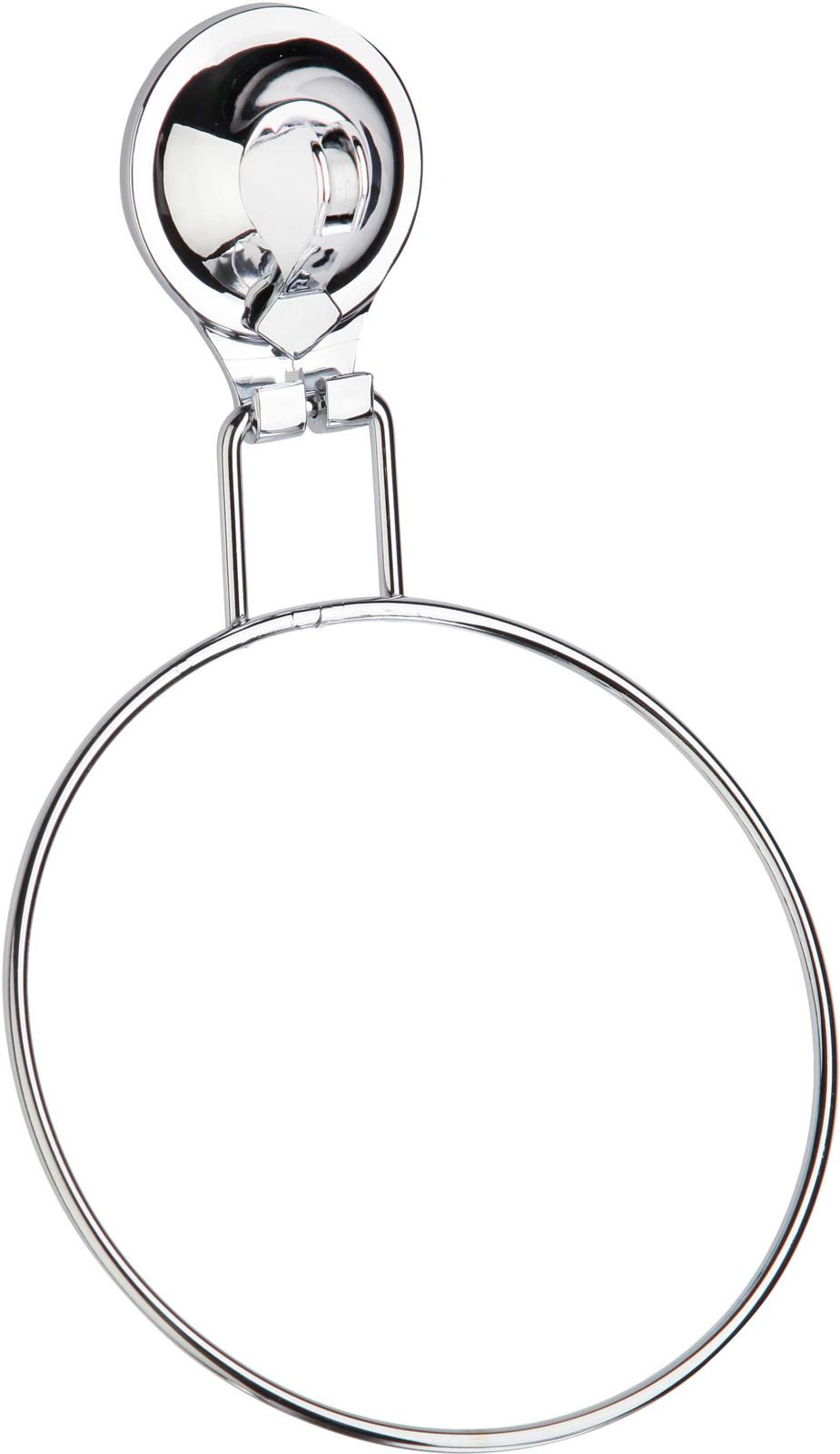 Держатель для полотенец Fora Triumf, на присоске, T011, серебристый крючок для ванной fora triumf на присоске t053 серебристый