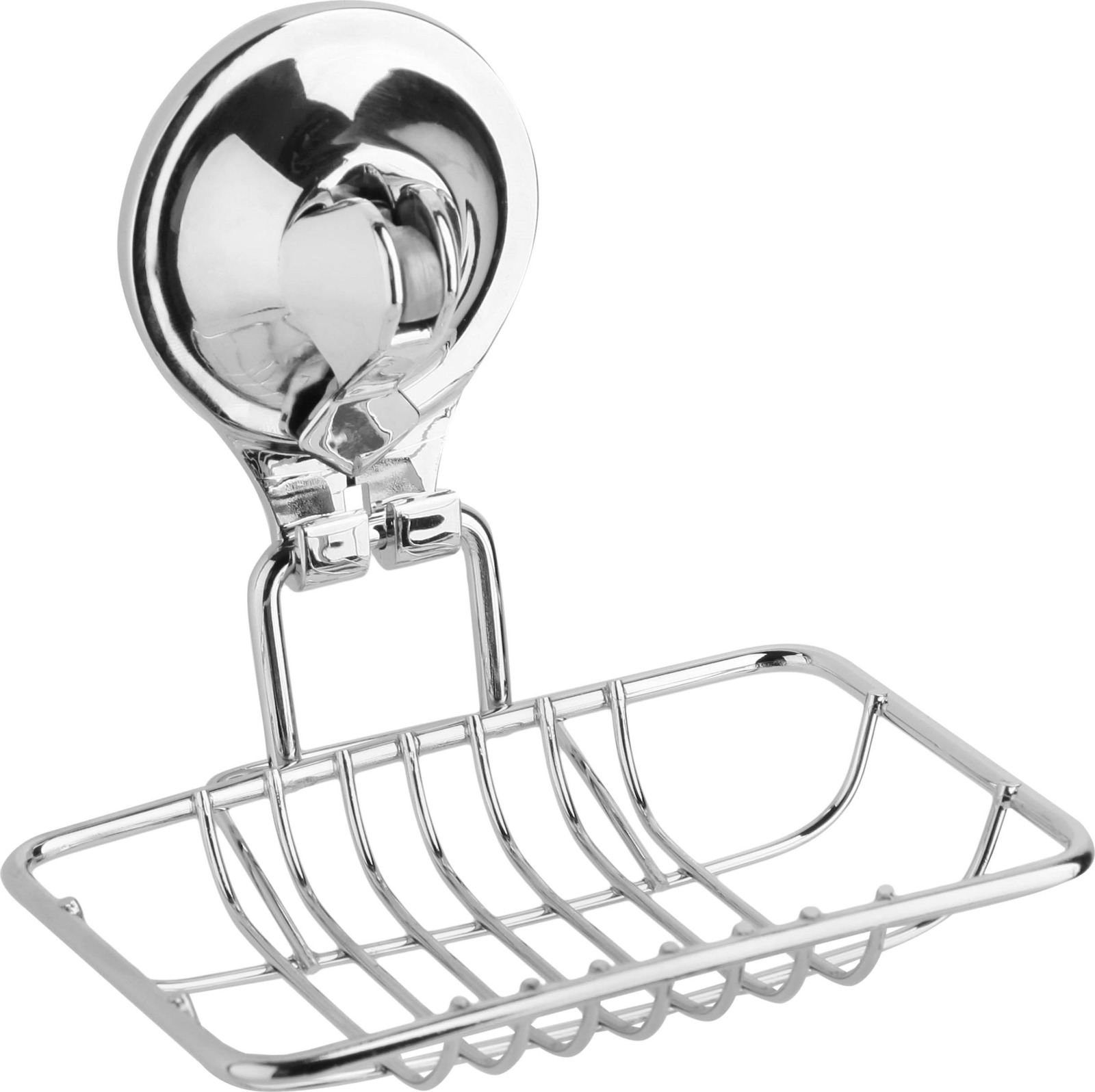 Мыльница настенная Fora Triumf, на присоске, T034, серебристый крючок для ванной fora triumf на присоске t053 серебристый