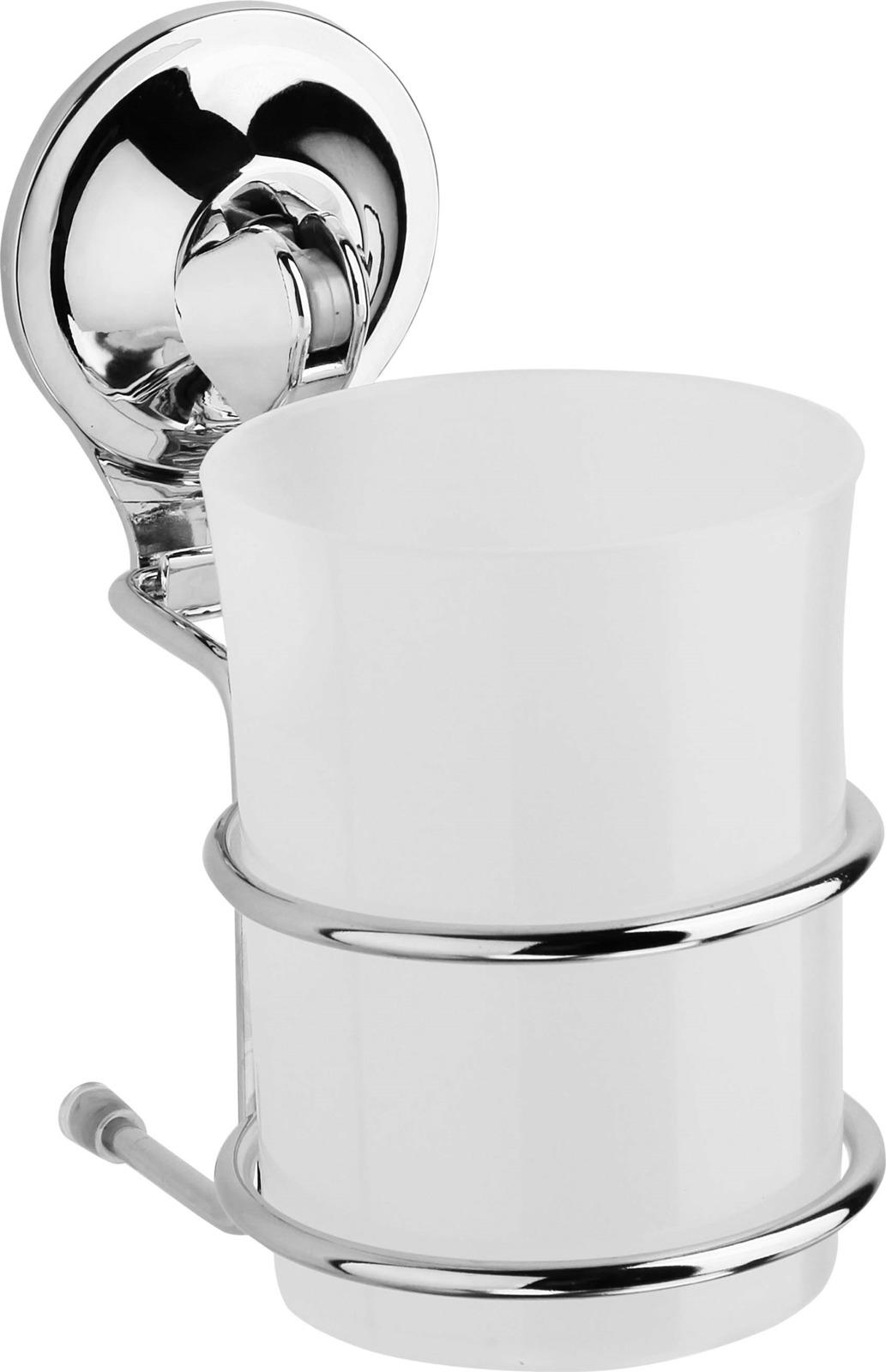 Фото - Стакан для ванной комнаты Fora Triumf, на присоске, T044, серебристый аксессуары