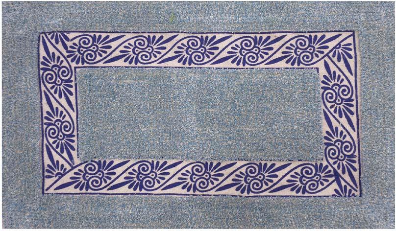 Коврик для ванной Fora Эконом, FOR-M002BL, голубой, 45 х 75 см fora for 2005
