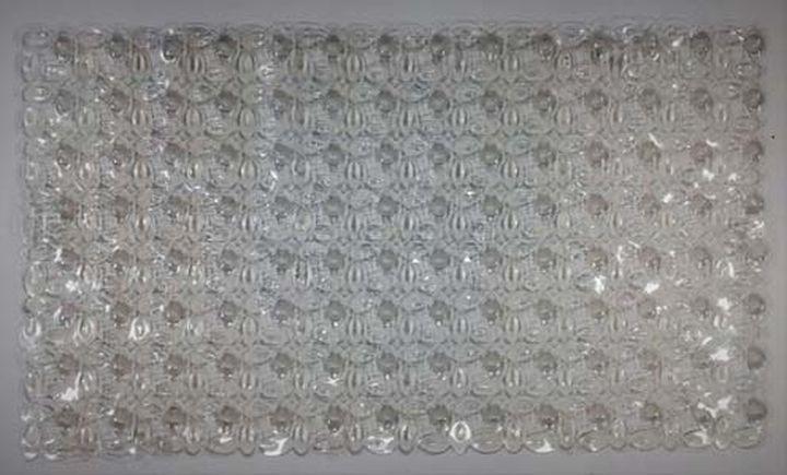 Коврик противоскользящий для ванной Fora Мозаика, FOR-SPA11, прозрачный, 67 х 38 см коврик для ванной axentia совы противоскользящий 69 х 38 см