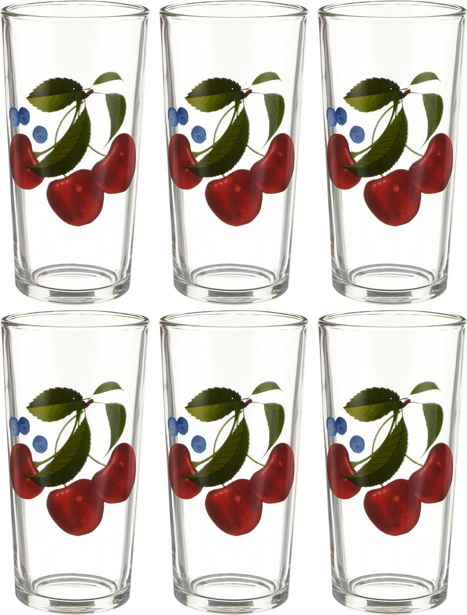 Фото - Набор стаканов ОСЗ Ода Ягоды, 230 мл, 6 шт [супермаркет] jingdong геб scybe фил приблизительно круглая чашка установлена в вертикальном положении стеклянной чашки 290мла 6 z