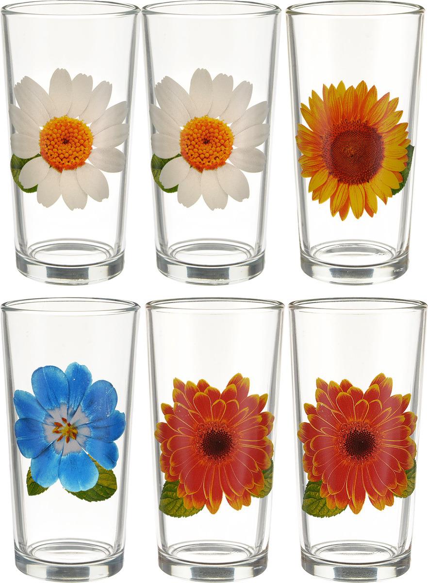 Фото - Набор стаканов ОСЗ Ода Коллекция цветов, 230 мл, 6 шт [супермаркет] jingdong геб scybe фил приблизительно круглая чашка установлена в вертикальном положении стеклянной чашки 290мла 6 z