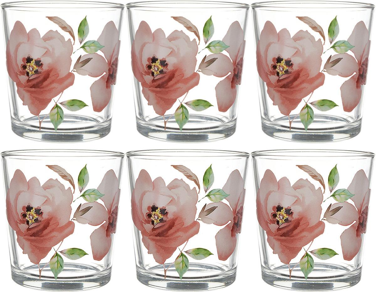 Фото - Набор стаканов ОСЗ Ода Акварельные цветы, 250 мл, 6 шт [супермаркет] jingdong геб scybe фил приблизительно круглая чашка установлена в вертикальном положении стеклянной чашки 290мла 6 z