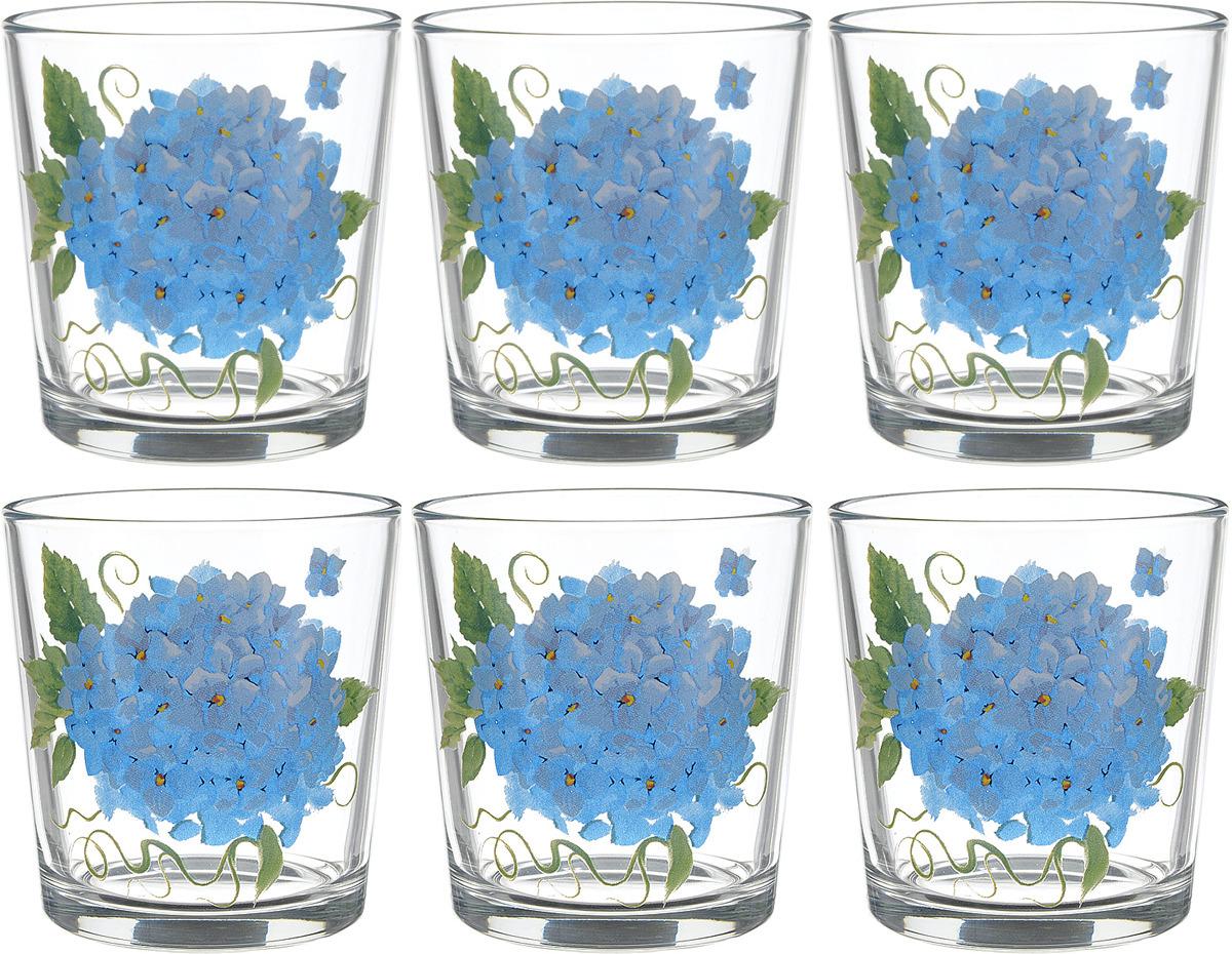 Фото - Набор стаканов ОСЗ Ода Гортензия, 250 мл, 6 шт [супермаркет] jingdong геб scybe фил приблизительно круглая чашка установлена в вертикальном положении стеклянной чашки 290мла 6 z