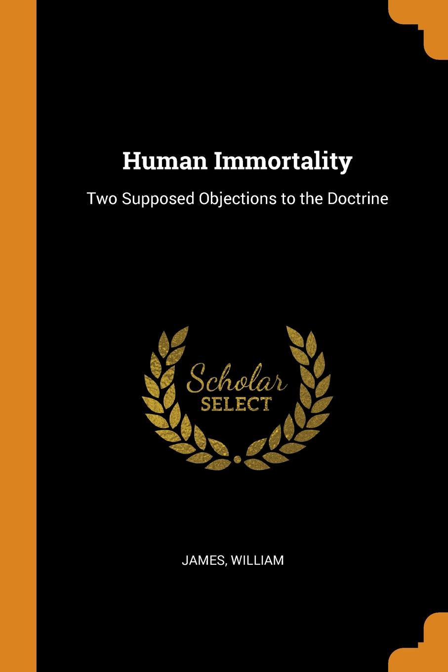 James William Human Immortality. Two Supposed Objections to the Doctrine william james the will to believe and other essays in popular philosophy and human immortality