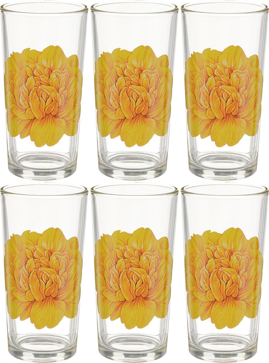 Фото - Набор стаканов ОСЗ Ода Пион, 230 мл, 6 шт [супермаркет] jingdong геб scybe фил приблизительно круглая чашка установлена в вертикальном положении стеклянной чашки 290мла 6 z