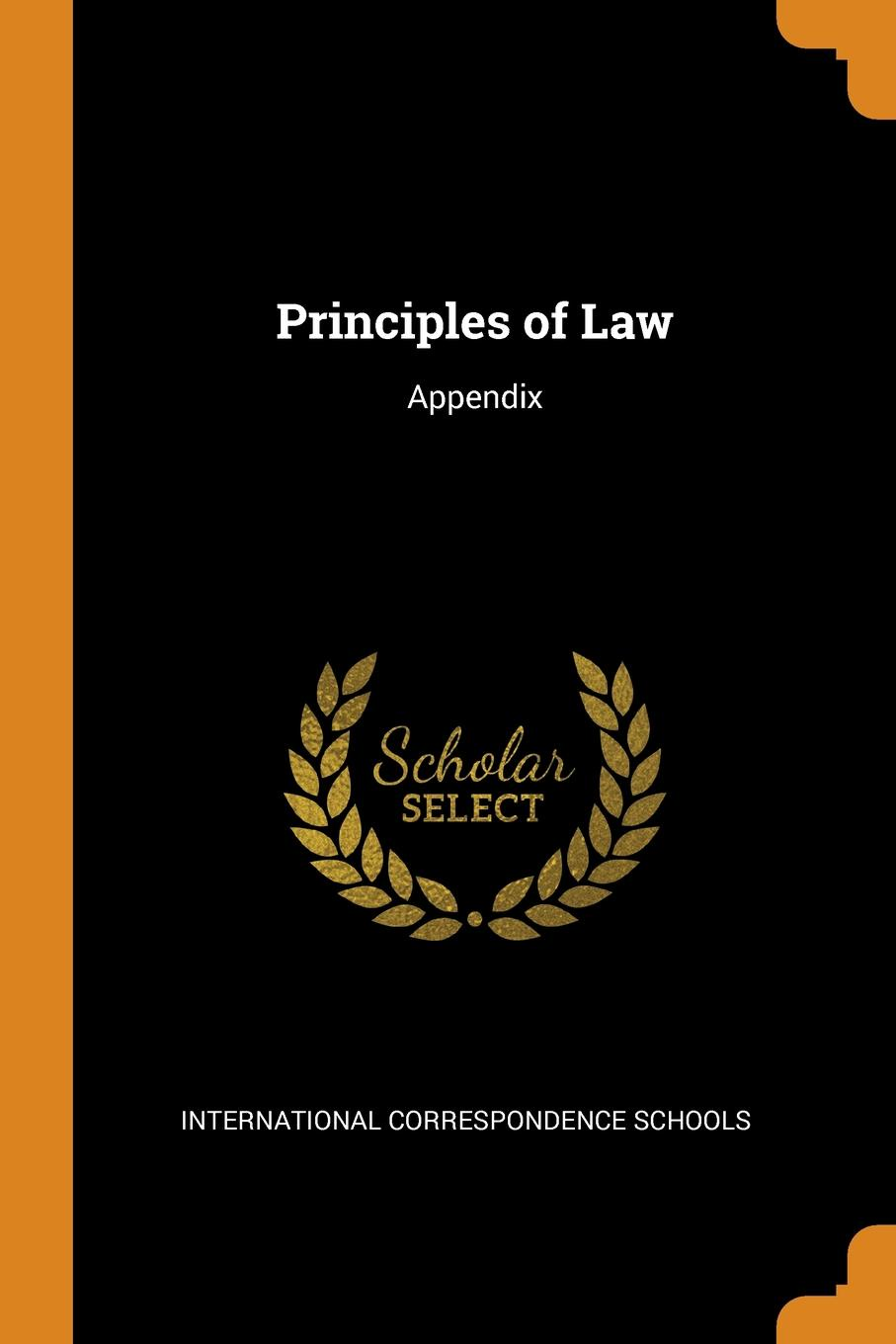 Principles of Law. Appendix This work has been selected by scholars as being culturally important...