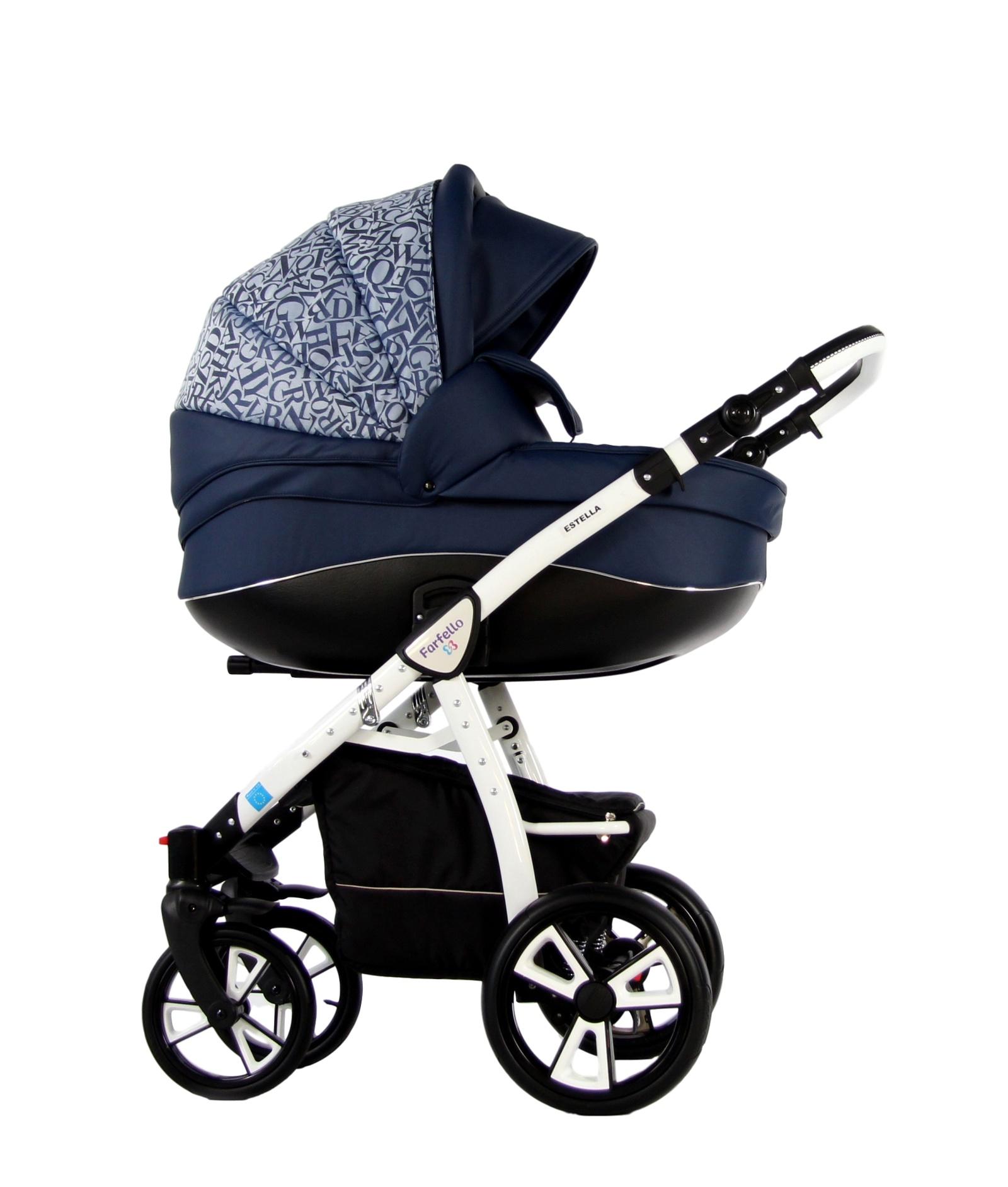 Коляска-люлька Farfello ESTELLA 2в1 синий коляска модульная vikalex ferrone 2 в 1 leather white vi72301