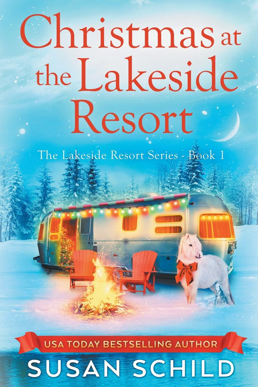 Susan Schild Christmas at the Lakeside Resort cabins