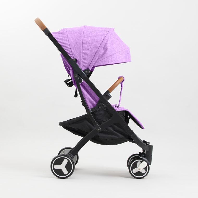 Коляска прогулочная YOYA PLUS 3 Фиолетовая,черная рама ,накидка на ножки в подарок коляска as seen on tv yoya 175 miki