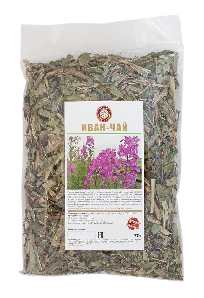 Чай листовой Травы Горного Крыма Иван-чай чай травяной травы горного крыма мята 50 г