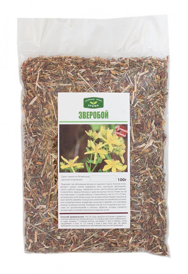Чай листовой Травы Горного Крыма Зверобой чай травяной травы горного крыма мята 50 г