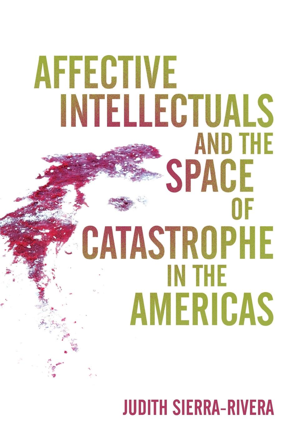 Judith Sierra-Rivera Affective Intellectuals and the Space of Catastrophe in the Americas недорго, оригинальная цена
