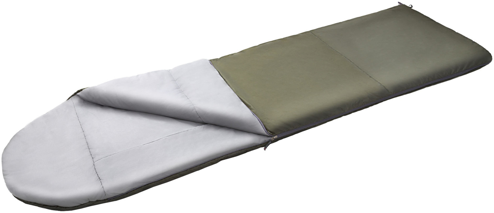Спальный мешок Nova Tour Карелия -5, левосторонняя молния, 96590, темно-зеленый, размер L (195 см)
