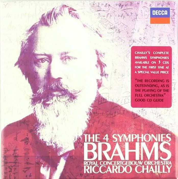 Riccardo Chailly. Brahms: The Symphonies (3 CD) w t matiegka fantaisie in c major op 4