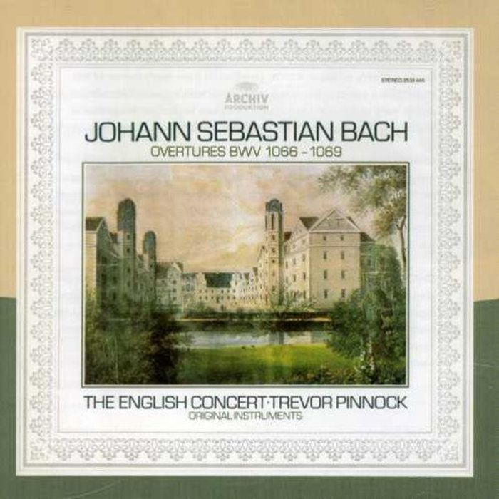 Trevor Pinnock. Bach: The Orchestral Suites BWV 1066-1069 e gillet passepied