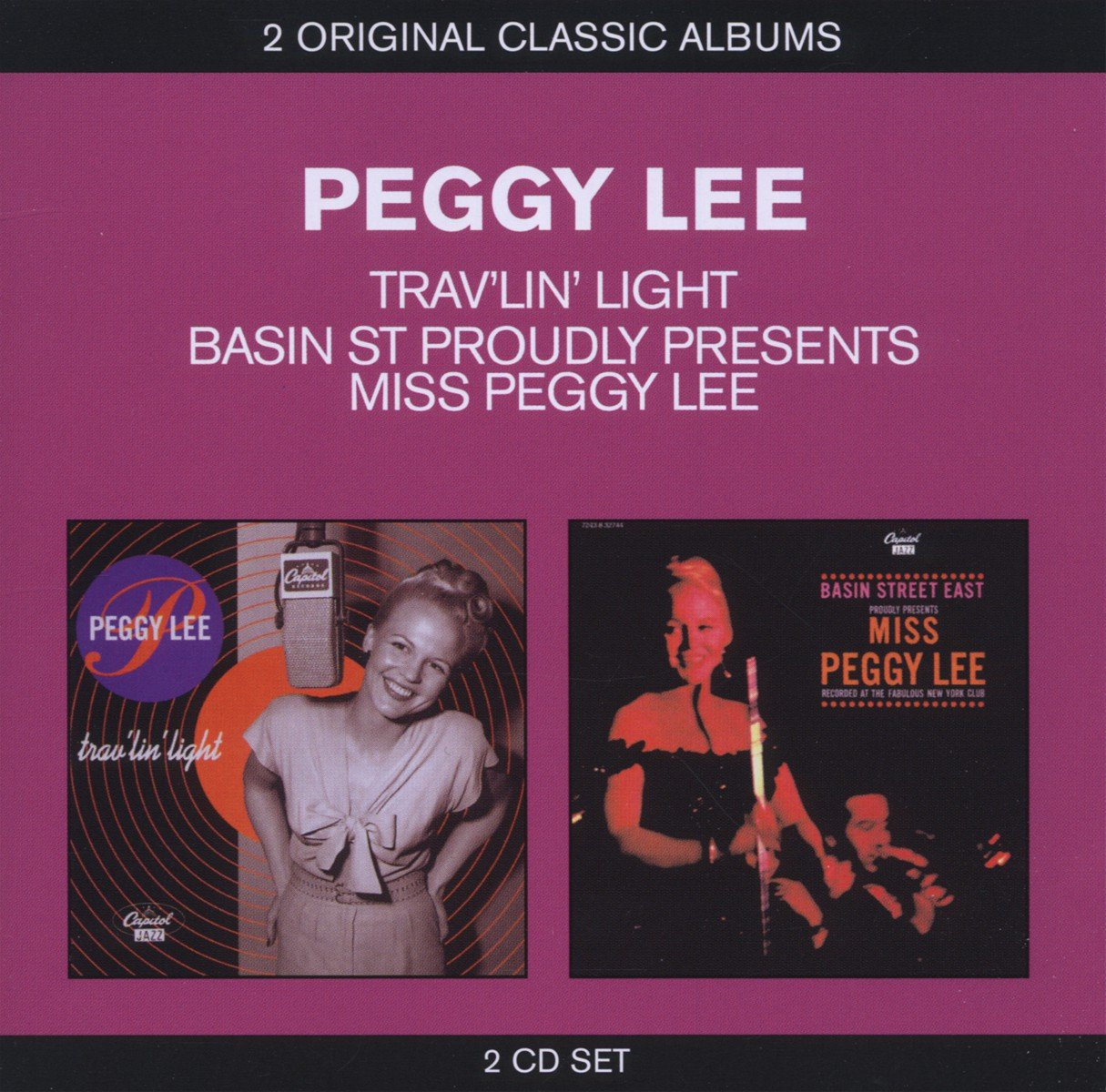 Peggy Lee. Basin St. Proudly Presents Peggy Lee/ Trav'lin' Light (2 CD) peggy lee tremper journey of hope