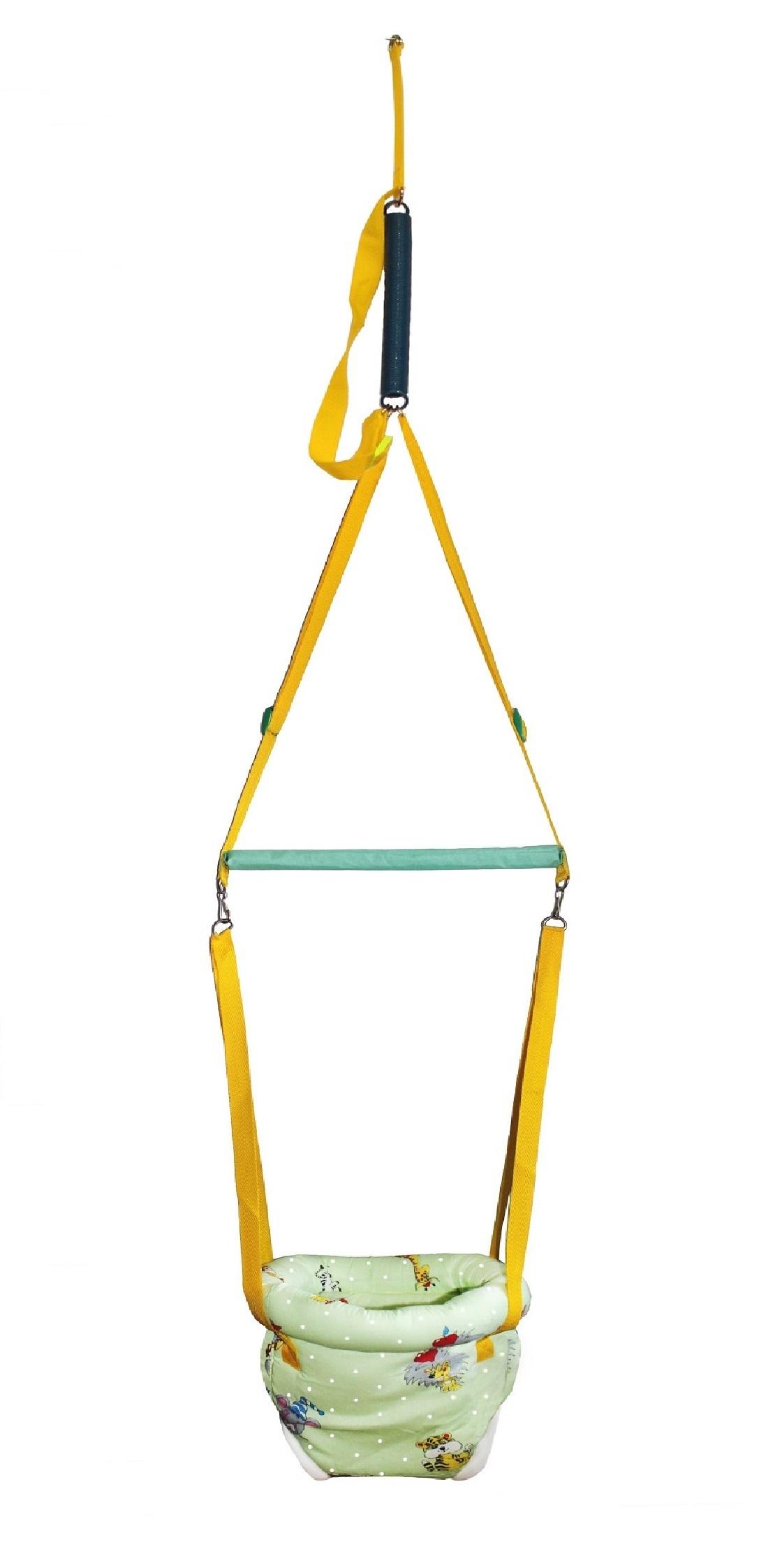 Прыгунки Риббис 4_св.зелжив_зел_желтстропы светло-зеленый, зеленый, желтый