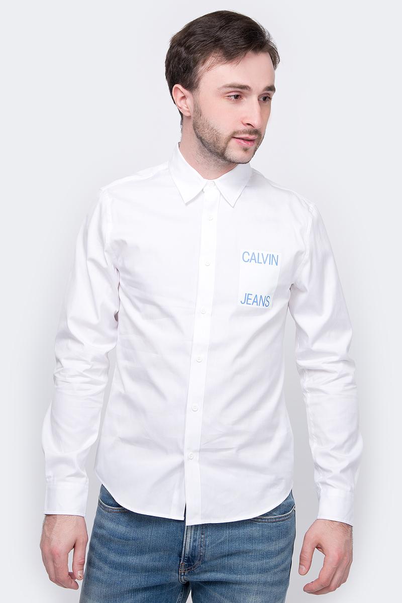 Рубашка Calvin Klein Jeans рубашка мужская calvin klein jeans цвет белый j30j308056 1120 размер m 46 48