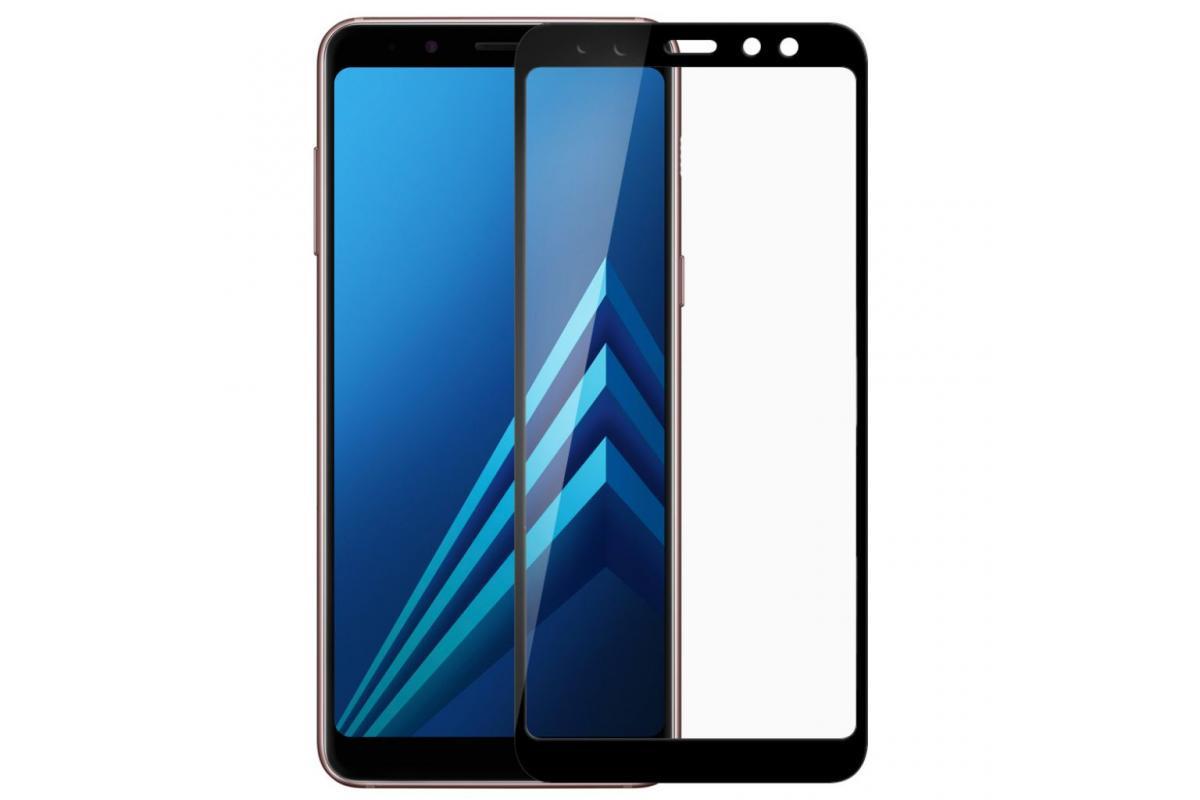 Защитное стекло Full Glue для Samsung Galaxy J4 (2018) защитное стекло smartbuy sbtg 3d0013 для samsung galaxy s8 3d 0 33 мм полное покрытие экрана с рамкой черный