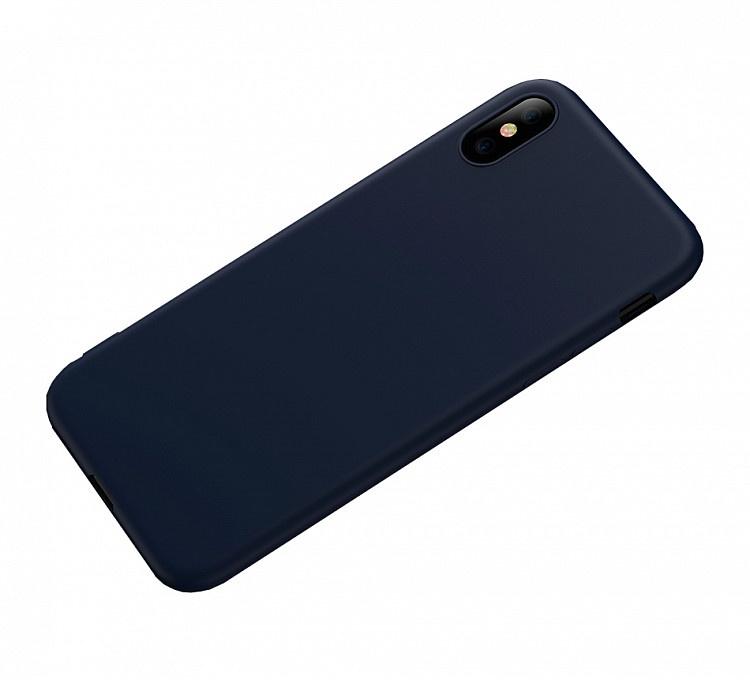 Чехол для сотового телефона для iPhone X, темно-синий цена и фото
