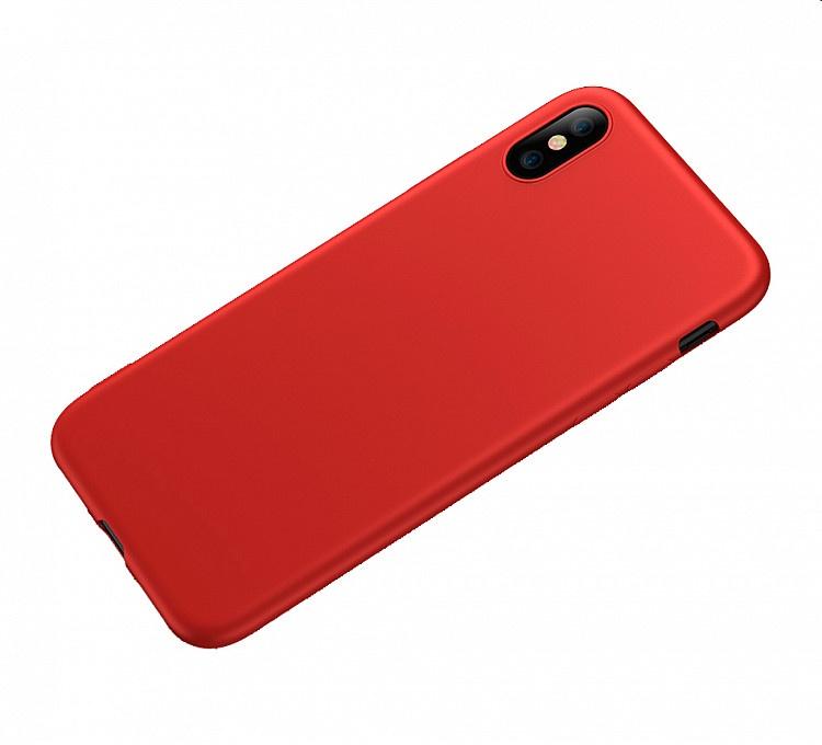 Чехол для сотового телефона для iPhone X, красный цена