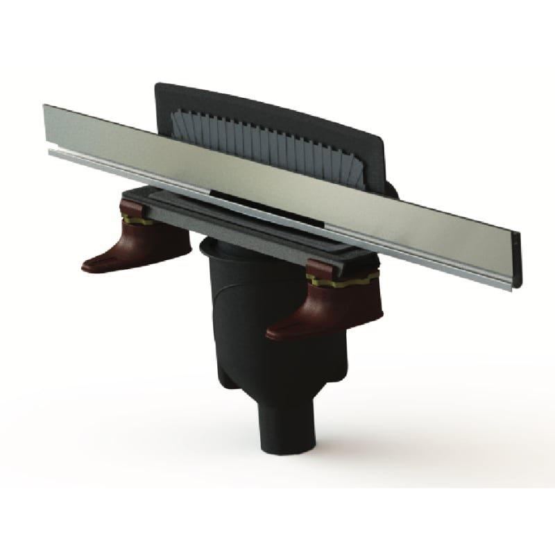 Трап для ванной комнаты BERGES Wasserhaus WALL 1000 пристенный матовый хром с вертикальным выпуском, 90057, серый комплект berges wasserhaus 042223