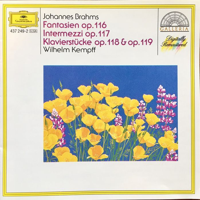 Wilhelm Kempff. Brahms: 7 Fantasien; 3 Intermezzi; Piano Pieces e e taubert suite no 2 op 70