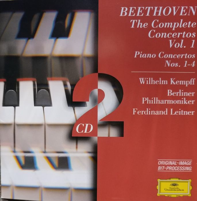 Wilhelm Kempff. Beethoven: Piano Concertos Nos.1-4 (2 CD) j b bréval cello sonata in c major op 40 no 1