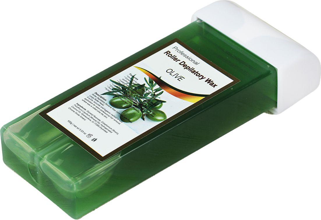 Воск для депиляции в картридже Олива, зеленый, 100 г Воск помогает надолго сохранить гладкость кожи. Оно легко наносится...