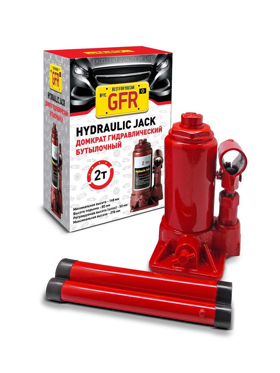 Бутылочный домкрат GFR F-1515C, красный