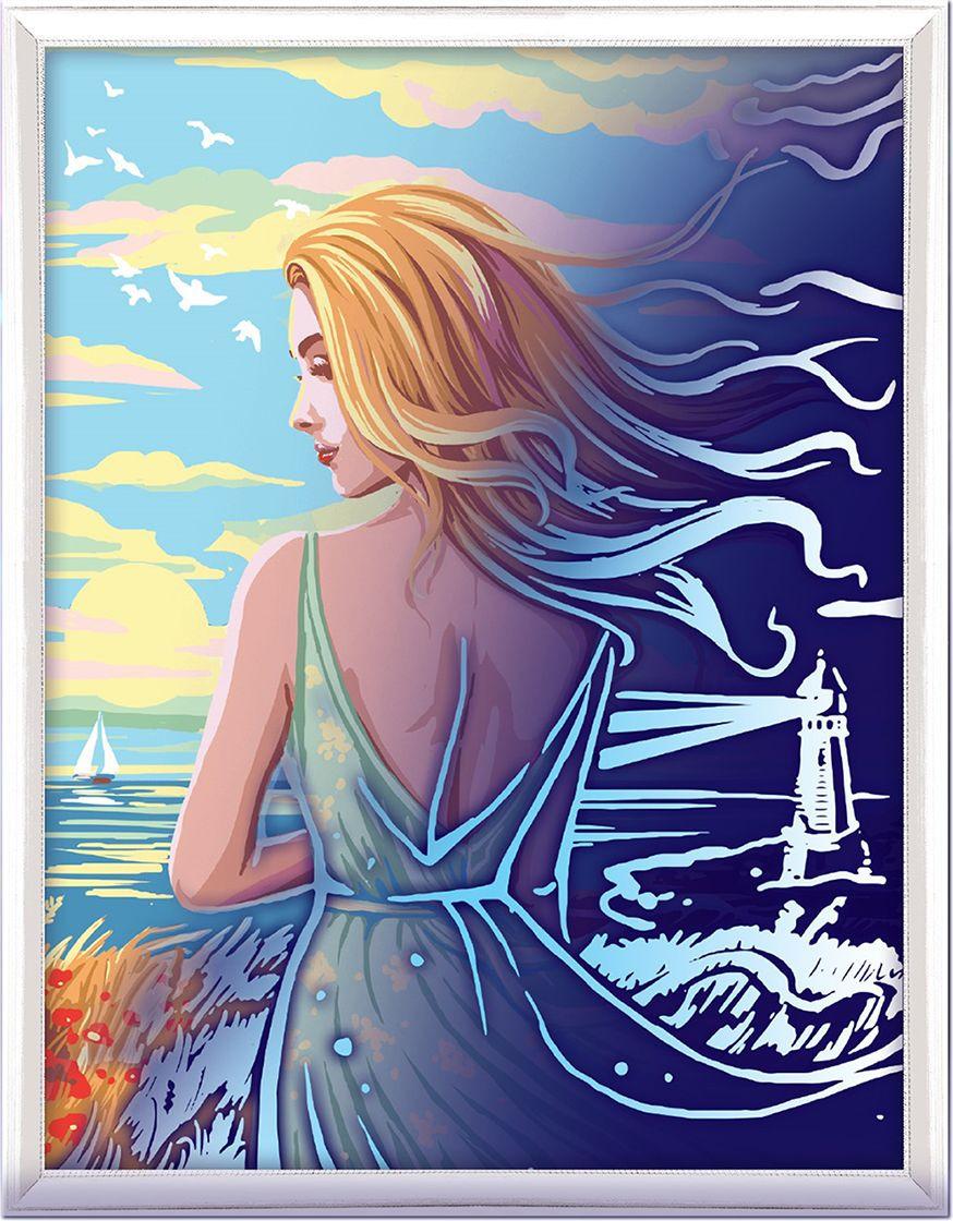 Картина по номерам Арт Узор Девушка у моря, 3716896, 30 х 40 см