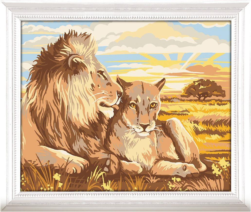 Картина по номерам Арт Узор Львы, 3716911, 30 х 40 см