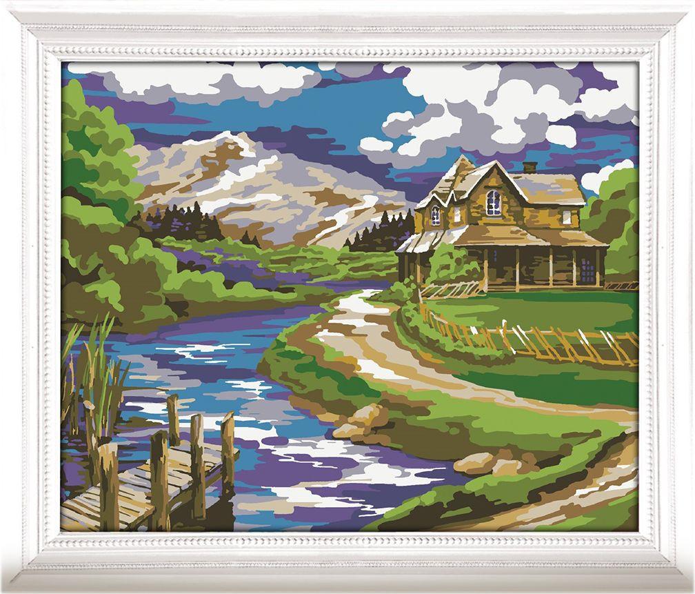 Картина по номерам Арт Узор Дом у реки, 3716918, 30 х 40 см